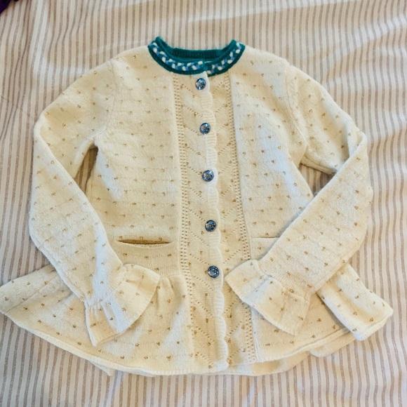 NWOT Warmest Wishes Cardigan Sweater MATILDA JANE GIRLS SIZE 4 WITH POCKE